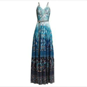 $675 Peter Pilotto Floral Hammered Silk Gown